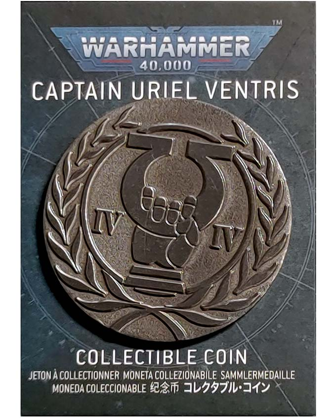 Warhammer Store Collector Coins January 2021 - Uriel Ventris