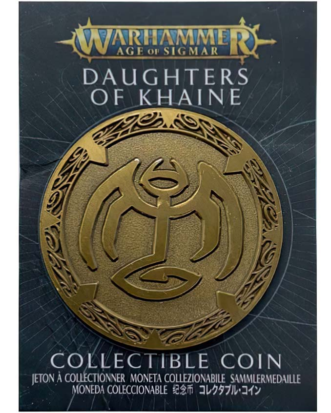 Warhammer Store Collector Coins November 2020 Collector Coin - Daughters of Khaine