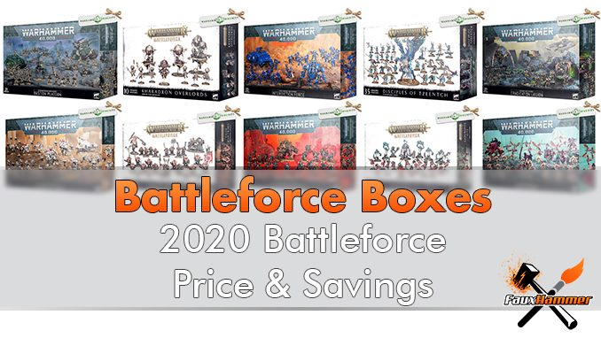 Warhammer 2020 Battleforce Boxes Price and Savings - Features