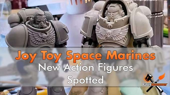 Joy Toy 4-inch Warhammer Space Marine Action Figures Leaaked - Featured