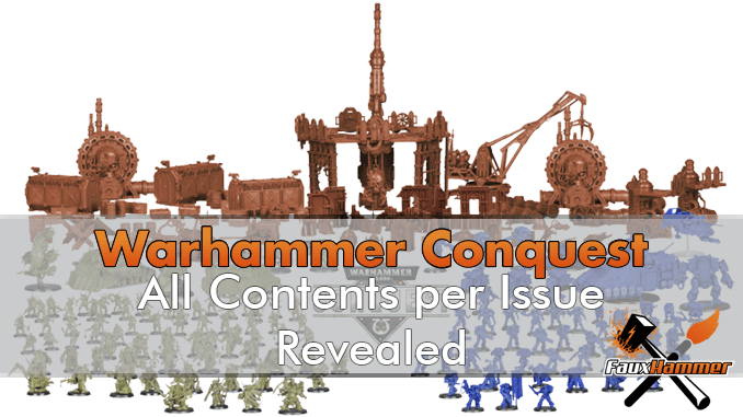 Warhammer Conquest Magazine Contents per Issue