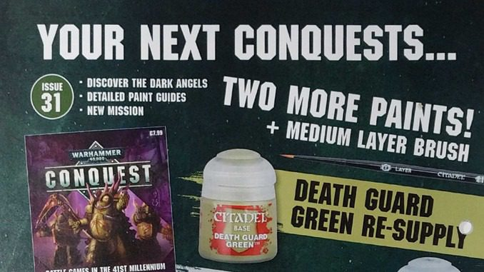 Warhammer Conquest: Issues 31 & 32 Contents