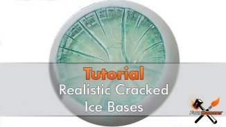 How to Make Realistic Cracked Ice Bases for Miniatures & Wargames Models - 2019