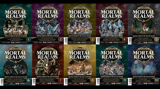 Warhammer Mortal Realms Magazine - Issue 1 -10 Covers - Featured